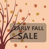 Early fall sale. Flat vector illustration Royalty Free Stock Photo