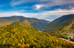 Early fall view from Bald Mountain, at Franconia Notch State Par Stock Photos