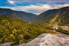 Early fall view from Bald Mountain, at Franconia Notch State Par Royalty Free Stock Image