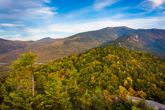 Early fall view from Bald Mountain, at Franconia Notch State Par Stock Image