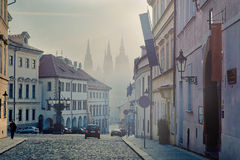 Early foggy morning in Prague Royalty Free Stock Image