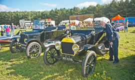 Early Ford cars at Roseisle Rally Royalty Free Stock Images