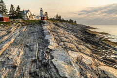 Early Glow on Pemaquid Point Stock Photography