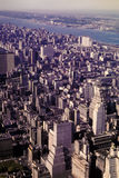 Early 1962 image of Manhattan facing the East River. Royalty Free Stock Images