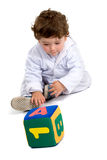 Early learning boy Royalty Free Stock Photo