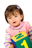 Early learning girl Stock Photo