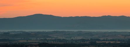 Tuscan Dawn Stock Photo