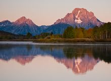 Early Light At Oxbow Bend Royalty Free Stock Images