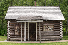 Early Log Cabin Stock Images
