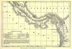 Early map of the Panama Canal. Stock Photography