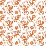 Early medieval seamless pattern Royalty Free Stock Photos