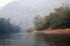 Early misty morning on the River Kwai Stock Photography