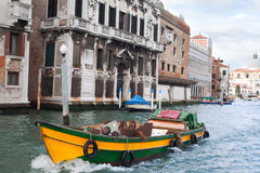Early moning in Venice,  Italy. Grand canal, Venice, Italy in early morning Royalty Free Stock Photography