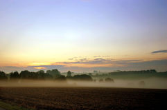 Early morning. Landscape at the early morning in the fog Royalty Free Stock Photography