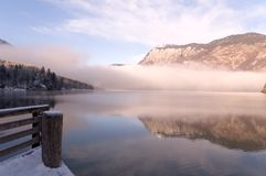 Early the morning. Montain lake early the morning, slovenian landscape Stock Image