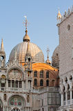 Early morning above the Saint Mark's Basilica. Royalty Free Stock Image