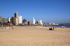Early Morning Addington Beach in Durban South Africa Stock Photos