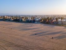 Early morning aerial sunrise view of the Venice stock photo