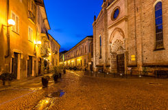 Early morning in Alba, Italy. Stock Photos