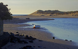 Early morning, Alnmouth beach and bay Royalty Free Stock Photography
