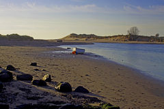 Early morning, Alnmouth beach and bay Stock Images