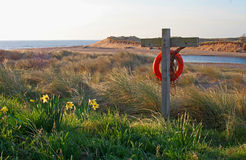 Early morning, Alnmouth beach and bay Royalty Free Stock Photo