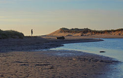 Early morning, Alnmouth beach and bay Stock Photo