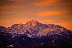 Early morning in the Alps outside Salzburg Royalty Free Stock Photography