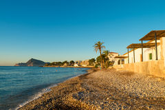 Early morning on Altea sea Stock Photo