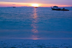 On early morning in Andaman sea,Thailand Royalty Free Stock Photography