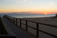 Early morning on Arenales beach Stock Image