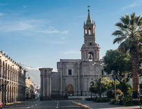Early morning in Arequipa, Peru Stock Photo
