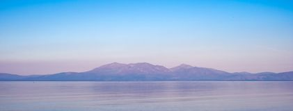 Early Morning Arran in Heat Haze royalty free stock image