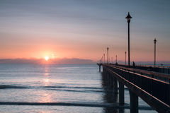 Early Morning At New Brighton Pier Stock Image