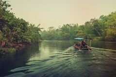 Free Early Morning At The River Kwai Stock Images - 215886084