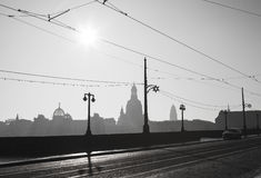 Black and white photo in Dresden Royalty Free Stock Photos
