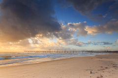 Early morning at the Australian beach Stock Photography