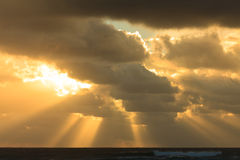 Early morning at the Australian beach Royalty Free Stock Photography