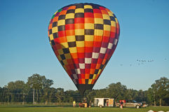 Early morning balloon launch. Royalty Free Stock Image