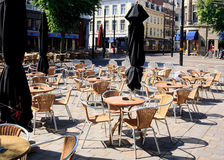 Early Morning Bar Terrasse Royalty Free Stock Photos