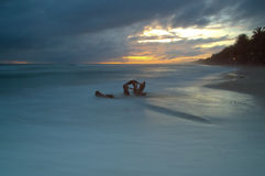 Early Morning on the beach. Of Playa el Aqua, Margarita Island, Venezuela Stock Photos