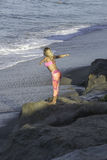Early Morning Beach Exercise Royalty Free Stock Image