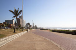 Early Morning Beach Front Promenade in Durban South Africa Royalty Free Stock Photography