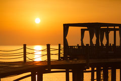 Early morning on the beach Royalty Free Stock Photography
