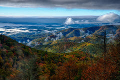 Early morning on blue ridge parkway Royalty Free Stock Photos