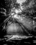 Early morning on blue ridge parkway Stock Images