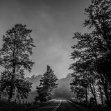 Early morning on blue ridge parkway Stock Photos