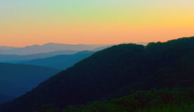 Early morning on blue ridge parkway Royalty Free Stock Photography