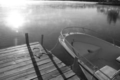 Early Morning Boat royalty free stock image