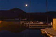 Early Morning at the Boat Docks Royalty Free Stock Photos
